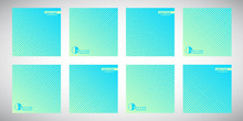Set, Collection Of Blue Square...