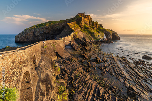 Foto op Canvas Historisch geb. San Juan de Gaztelugatxe, Basque Country, Spain