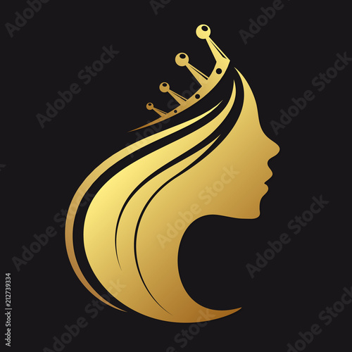 Profile of a girl with a crown Wallpaper Mural