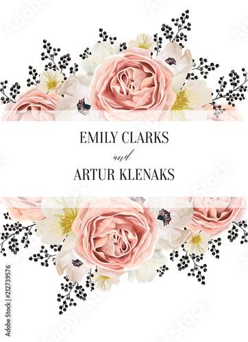 Wedding Floral Watercolor Invite Invitation Save The Date