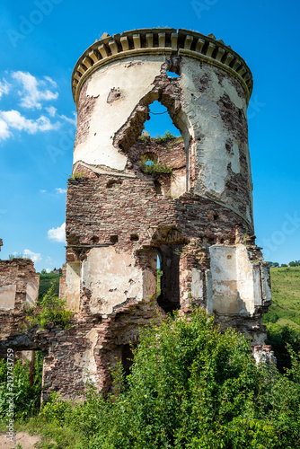 Deurstickers Oude gebouw Ruins of the Chervonogorod castle. Zalishchiki, Ukraine