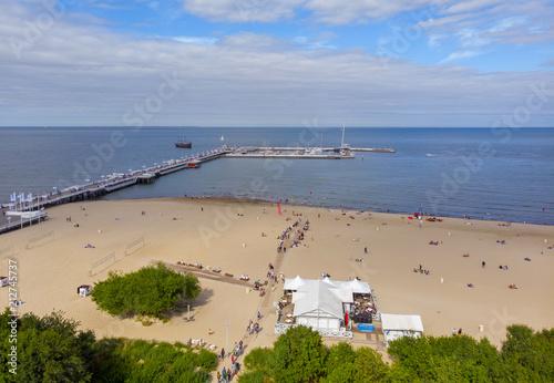 Fototapeta Plaża w sopocie polskie morze bałtyckie obraz
