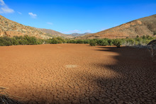 Dry Lake With Cracked Earth