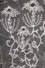 Vintage Edwardian And Victorian White Vintage Lace On Black Background