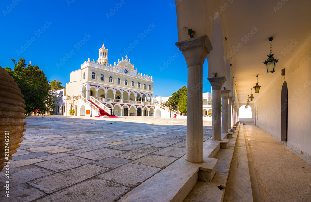 Fototapety, obrazy: The famous church of Panagia Megalochari Evangelistria, Tinos island, Cyclades, Greece.