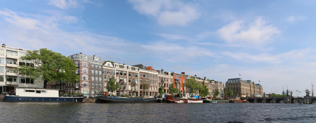 Fototapeta Amsterdam Amstel river cityscape
