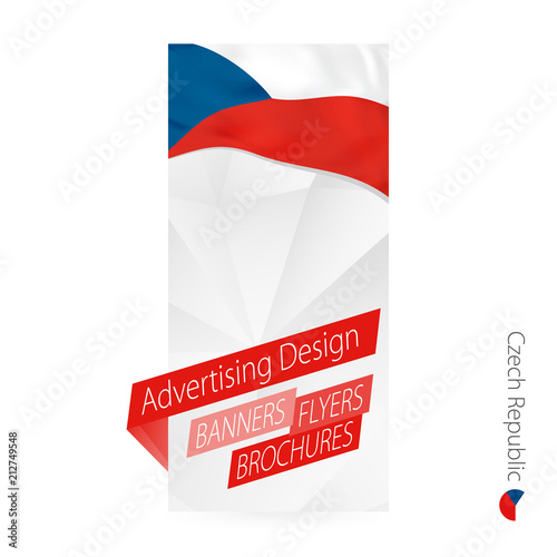 Vector abstract banner template for Czech Republic. Poster