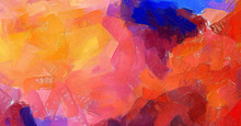 Abstract Art Background. Oil P...