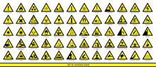 Collection Of Warning Signs. S...