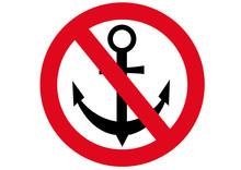 Schild Ankern Verboten
