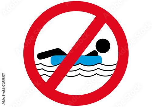 Schild Luftmatratze verboten Fototapet