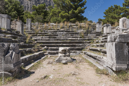 Deurstickers Oude gebouw Bouleuterion Building in Priene Ancient City İn Turkey
