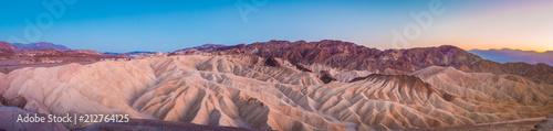 Spoed Foto op Canvas Verenigde Staten Zabriskie Point at twilight, Death Valley National Park, California, USA