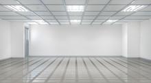 Empty Hall Interior. 3d Illust...