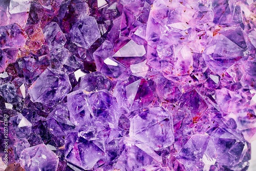 Fotografie, Obraz  Bright Violet Texture from Natural Amethyst