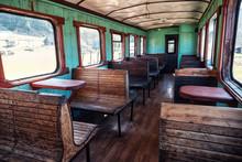 Abandoned Old Train Wagon