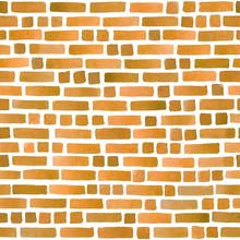 Watercolor Brick Wall Imitatio...