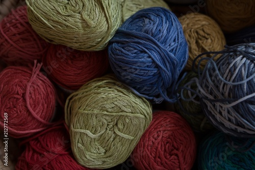 Various ball of threads in shop