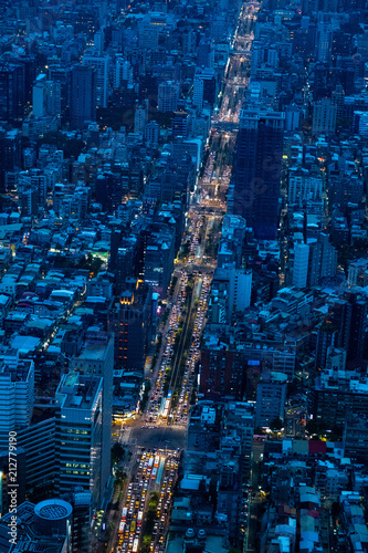 Poster Stad gebouw city night view