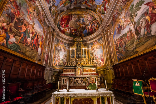 San Sebastiano church of Acireale, sicily, Italy Wallpaper Mural