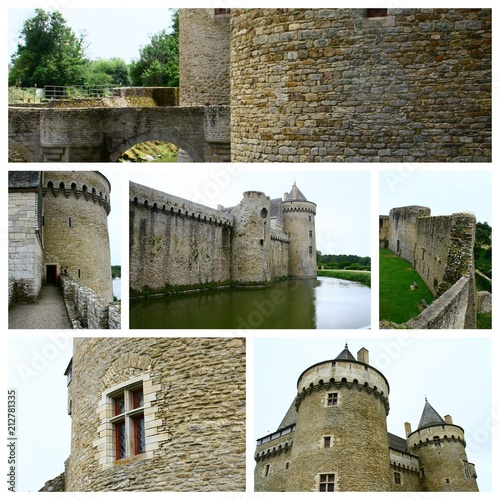 Spoed Foto op Canvas Kasteel composition,le château de suscinio,en bretagne
