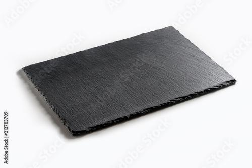 Rectangular plate in black slate