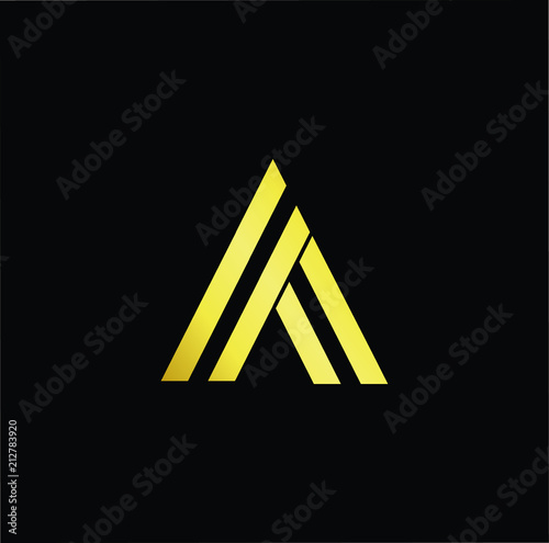 Abstract Letter Aa Minimal Logo Design Template Vector