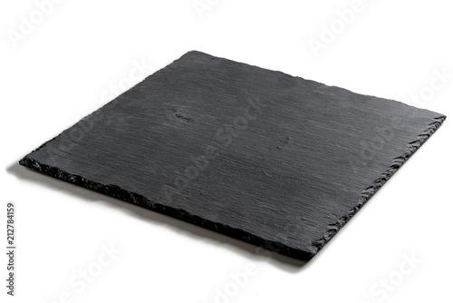 Square plate in black slate