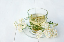 Yarrow Medicinal Tea In Glass ...