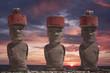 Leinwanddruck Bild - Easter island