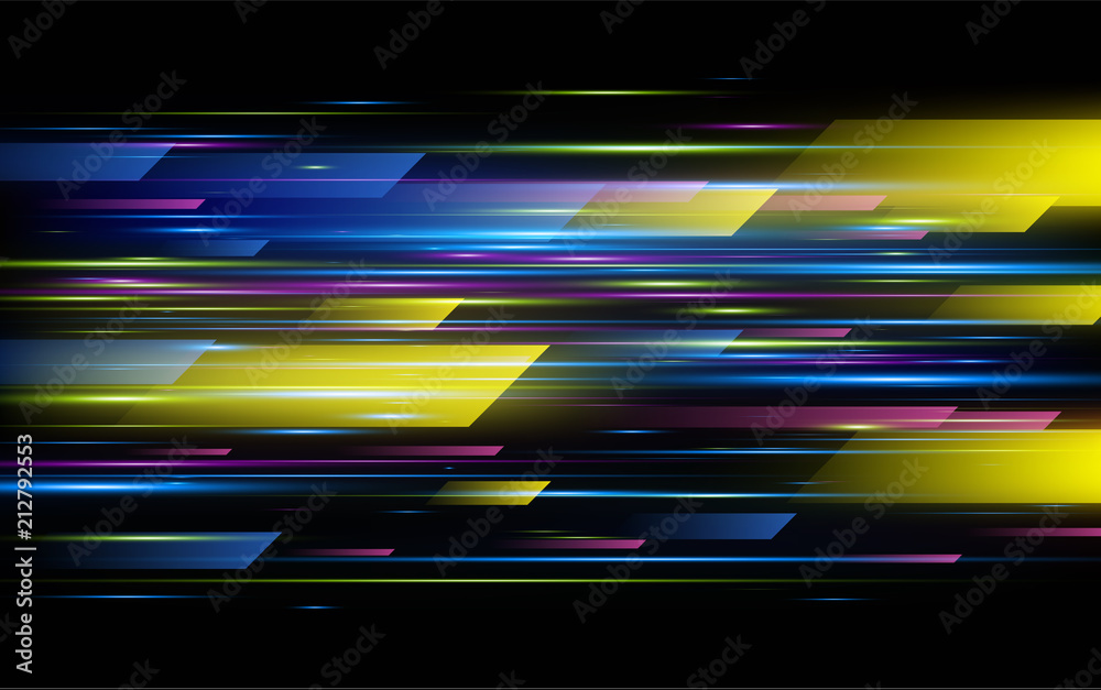 Fototapety, obrazy: High speed. Hi-tech. Abstract technology background. Vector illustration