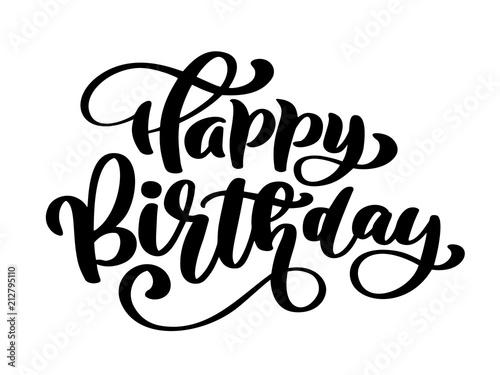 Happy Birthday Hand drawn text phrase Canvas-taulu