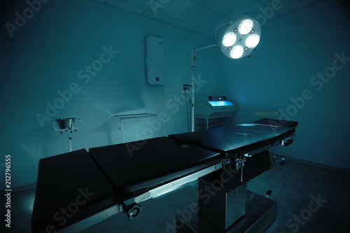 Photo morgue medical room, medical clinic, surgical table in the morgue