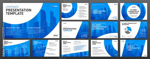 Fotografie, Obraz  Corporate presentation templates set