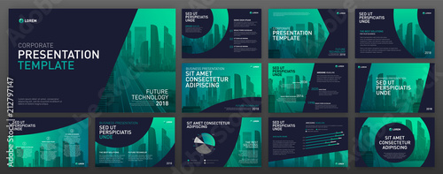 Fotografía  Business presentation templates set