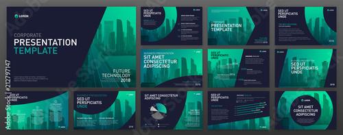 Photo  Business presentation templates set