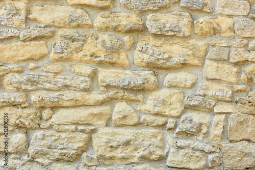 Foto op Plexiglas Wand Stone wall. Brick texture. Old facade.