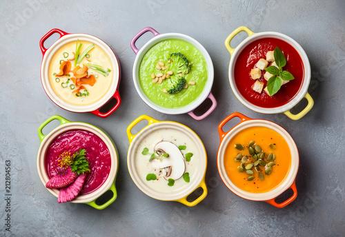 Fotografie, Obraz  Vegetable cream soups