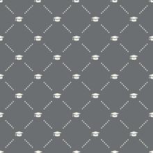 Seamless Graduate Pattern On A Dark Background. Graduate Icon Creative Design