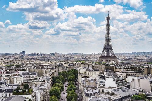 Staande foto Parijs paris landscape eiffel