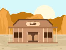 Texas Saloon Concept Backgroun...