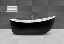 Black Bathtub Concept Backgrou...