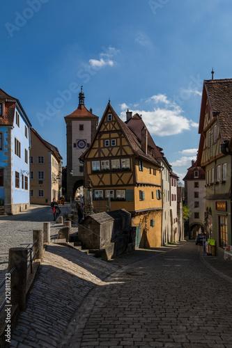 Fotografie, Obraz  Historic Rothenburg ob der Tauber, cityscape of German town