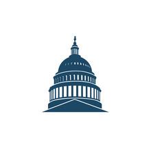 United States Capitol Building Icon In Washington DC