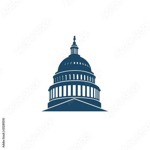 Stampa su Tela United States Capitol building icon in Washington DC