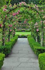 FototapetaRose garden archway