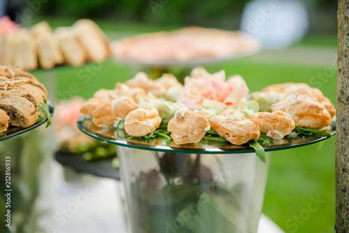 Foto op Canvas Buffet, Bar Petites bouchées salées