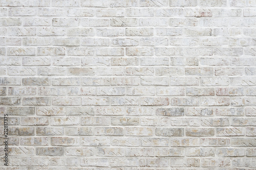 Abstract background of whitewashed brick wall Fototapeta