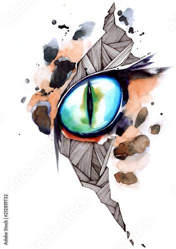 Spoed Foto op Canvas Schilderingen cat's eye