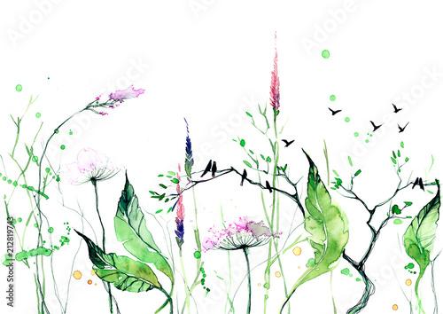 Foto op Canvas Schilderingen summer